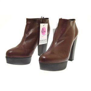 Chloe Burgundy Wine Leather Elton Platform High Heel Women's Boots 40 US 10 NEW